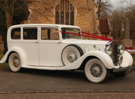 White Rolls Royce Phantom for weddings in Salisbury